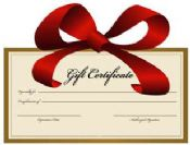 Gift Certificate Dollars, in the amount you want!